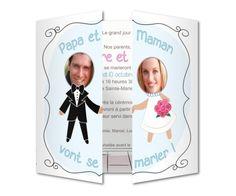 faire part mariage cadres photos papa et maman - Faire Part Mariage Papa Et Maman Se Marient