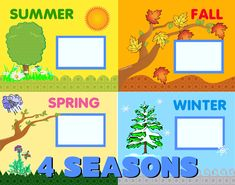 Create a 4 Seasons Poster   School Poster   Educational Poster Ideas