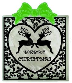 Holly Heart Frame suitable for Glass Blocks, cards and frames. SVG Digital Cutting File by CraftaholicCreation on Etsy