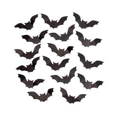 Spritz Halloween 3D Bats Decor (£3.23) ❤ liked on Polyvore featuring home, home decor, holiday decorations, halloween, filler, black, black home decor and halloween home decor