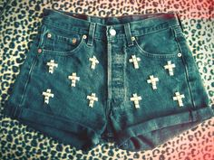 Selling these DIY studded shorts here  please check them out!