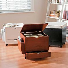 File Ottoman - Doubles as an extra seat or a little table.