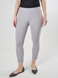 Mid-rise legging with seams has a cropped length for warm weather styling. Mix and match with your layered looks for travel. Made of soft, breathable microfiber in the U.S.A. Layered Look, Mix N Match, Leggings Are Not Pants, Warm Weather, Capri Pants, Travel, Clothes, Fashion, Porto