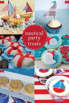 nautical party treats #nauticalparty #nauticalbabyshower #nautical