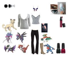 """""""Pokemon Rival: Ayako"""" by madteddy ❤ liked on Polyvore featuring James Jeans, Wet Seal, Amanda Rose Collection, BERRICLE, China Glaze and Laura Geller"""