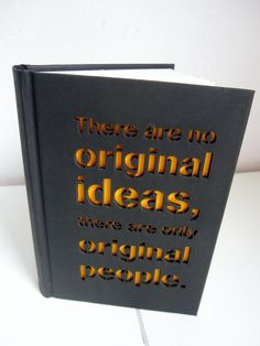 Notebook 'Original people' - with a laser cut cover