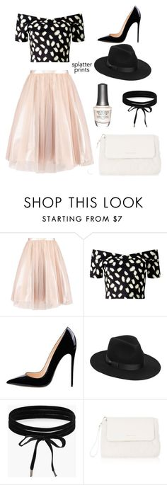 """Splatter prints in chic"" by cloudyroses ❤ liked on Polyvore featuring Miss Selfridge, Lack of Color, Boohoo, Morgan Taylor, Karen Millen and splatterprints"