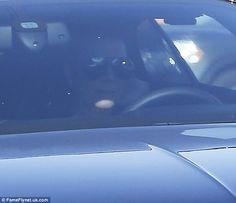 Shady: The Kardashian-Jenner matriarch kept her eyes shielded behind a pair of heavily tin...