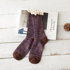 Fashion Socks Women Cashmere Wool Thick Winter Warm Lace short socks Free Shipping