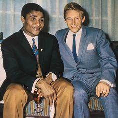 Eusébio and Denis Law