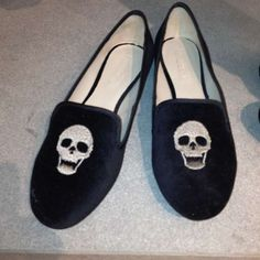 e358b53be93 ZARA flats with skull accents -- Taken with  snapette Zara Flats