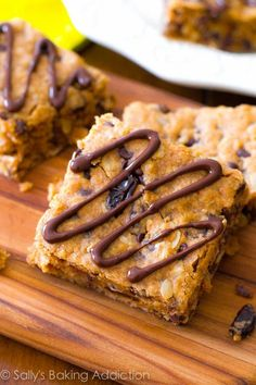 Yummy, chewy and healthy peanut butter oatmeal bars.