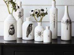 Декорирование бутылок своими руками (декупаж бутылок) | Как украсить бутылку своими руками ?