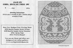 Easter egg with Rabbits Celtic Cross Stitch, Cross Stitch Charts, Cross Stitch Designs, Cross Stitch Patterns, Filet Crochet, Crochet Motif, Cross Stitching, Cross Stitch Embroidery, Cross Stitch Silhouette