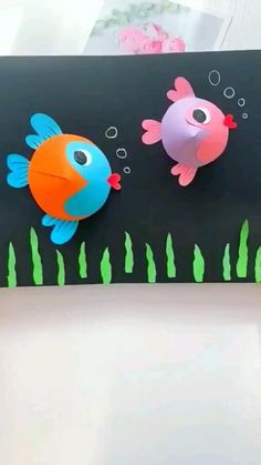 Hand Crafts For Kids, Animal Crafts For Kids, Craft Activities For Kids, Preschool Crafts, Fish Crafts, Fun Diy Crafts, Craft Stick Crafts, Creative Crafts, Art Drawings For Kids