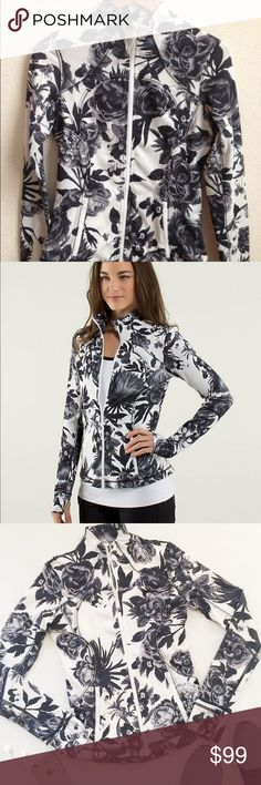 Lululemon Brisk Bloom Floral Forme Jacket 2 Brand: Lululemon Size: 2 Condition: NEW, no tags Retail: $128 Trades: No, I'm sorry! Details: this jacket is sold out & rare. Selling for much more elsewhere. This was gifted to me and it's beautiful but not my size :( Price: FIRM Bundle to save!  Exposure Tags: Lululemon, Zella, Athleisure, Nordstrom lululemon athletica Jackets & Coats