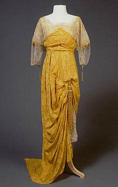 Evening dress, 1911-14 Europe, San Diego History Center