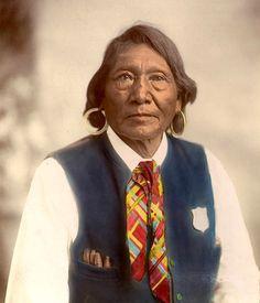 インディアン(ネイティブ・アメリカン)の貴重なカラー化写真 (1)