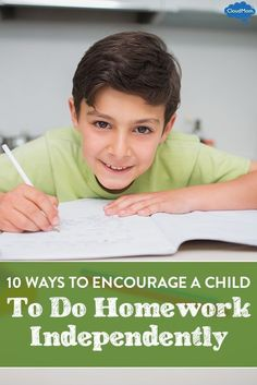 How to Encourage Your Kids to do Homework Independently #parentstipsforboys
