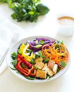 Thai Salad with Peanut Sauce | a Couple Cooks