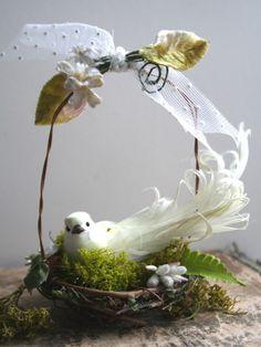 the adventures of bluegirlxo: artful thursdays #12.....a tiny spring nest tutorial