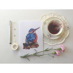 A5 Notebook Kenneth the Kingfisher Wildlife by Lyndseylovebirdart