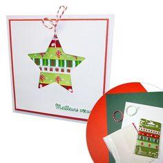 Kit création: 4 cartes de Noël scrapbooking à réaliser