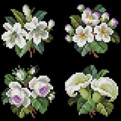 Cross Stitch Flowers, Cross Stitch Patterns, Christmas Embroidery Patterns, Hardanger Embroidery, Small Leaf, Art N Craft, Cross Stitching, Needlepoint, Cross Stitch Embroidery