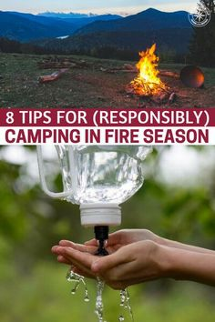 8 Tips for (Responsibly) Camping in Fire Season - This article is all about camping during fire season. Its about the fire season and how fires can spark at a moments notice if we are not responsible. Solo Camping, Camping Guide, Camping Essentials, Camping With Kids, Family Camping, Tent Camping, Camping Gear, Outdoor Camping, Camping Stuff