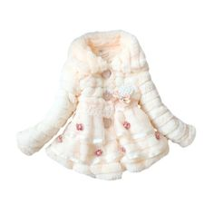 Zicac New Baby Girl Clothes Junoesque Winter Coat Toddlers Girls Faux Fur Fleece Lined Coat Kids Winter Warm Jacket (70-80, Yellow) by Zicac, http://www.amazon.com/dp/B00F5SPAMK/ref=cm_sw_r_pi_dp_.gDssb0XH59TN