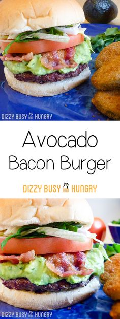 Avocado Bacon Burgers http://www.dizzybusyandhungry.com/avocado-bacon-burgers/ #sponsored