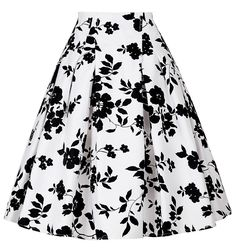 Barato Saias Das Mulheres 2016 Verão Plissadas Midi Skater Saia De Cintura Alta Floral Imprimir Faldas Saias Na Altura Do Joelho de Algodão de Moda Saia Das Mulheres, Compro Qualidade Saias diretamente de fornecedores da China: as mulheres Se Vestem CL6086 Robe de Audrey Hepburn 50 s 60 s Rockabilly Vintage Vestido de Algodão Sem Mangas Casual Re