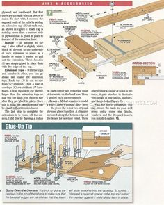#1985 Extendable Drill Press Table Plan - Drill Press
