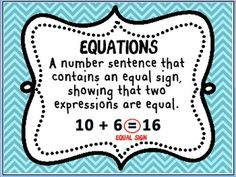 1000+ images about Equations/Expressions on Pinterest ...