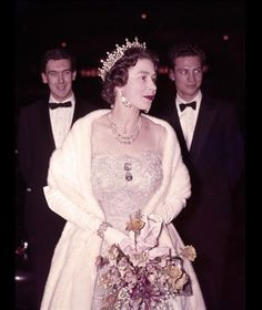 express:  Queen Elizabeth II Visits The London Theatre, 1962