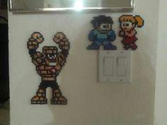 Stone Man, Mega Man and Roll