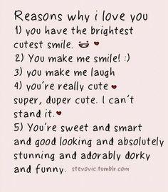 10 Reasons Why I Love You True Reasons Why I Love You Why I