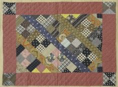 patchwork doll quilt late 19thc.