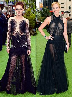 Love Charlize Theron's Dress. Kristen Stewart's Looks Like An Ink Blot You Look At With A Psychiatrist.