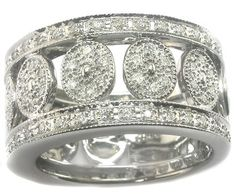 1.30ct Diamond 18k White Gold Wedding Band