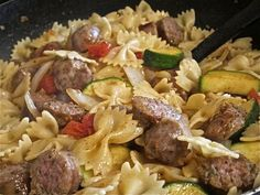 Bow Tie Pasta With Italian Sausage and Vegetables - AWESOME!