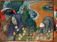 Vincent van Gogh - Memory of the Garden at Etten (Ladies of Arles)...BEAUTIFUL!!!