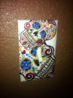 DIY skull light switch cover,.