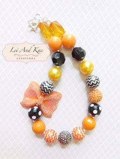 Fall Thanksgiving Chunky Bubble Gum Necklace - Photo Prop Fashion Accessory