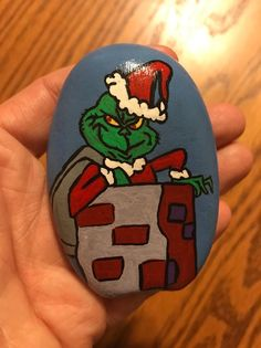 "This rock is hand painted rocks by me ""Stacey"" I hand pick the rocks and hand paint them with acrylic paints. Then I clear coat them to protect them for a long life. See pictures for approximate size of rock. 
