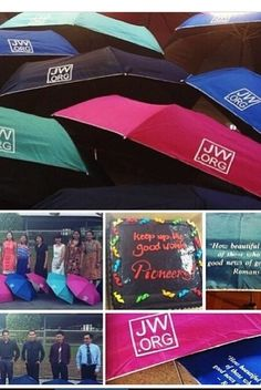Jw.org Umbrellas -----printed on your favorite umbrella. What a great idea♥