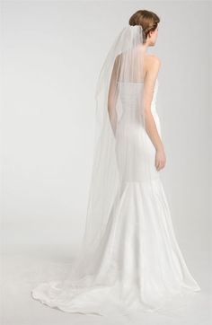 Nina Demi Single Tier Cathedral Veil | Nordstrom