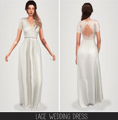 Lace wedding dress at Elliesimple • Sims 4 Updates