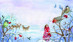Illustration from Little Fairy's Christmas by Daniela Drescher  Published by Floris Books