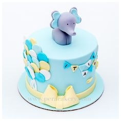 Elephant cake for baby showers